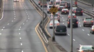 Stock Video Footage of Car Traffic on Highway Timelapse 3