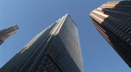 Stock Video Footage of low angle pan buildings new york