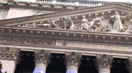 New York stock exchange zoom out with Christmas Tree Stock Footage