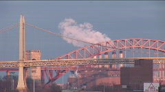 New York Triborough Bridge Timelapse Stock Footage