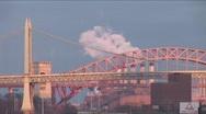 Stock Video Footage of New York Triborough Bridge Timelapse