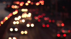 Out of Focus Traffic - stock footage