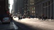 People crossing street new york Stock Footage