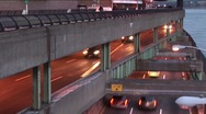 Stock Video Footage of Traffic on Overpass Timelapse