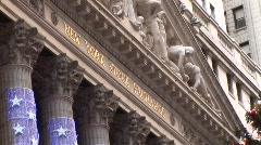 The New York Stock Exchange at Christmas - stock footage