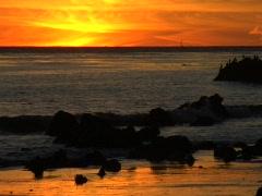 Sunset at El Matador Beach Stock Footage