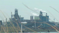 Factory in nature - closeup Stock Footage