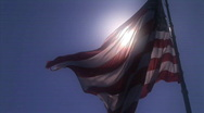 Large United States flag HD Stock Footage