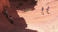 Canyon hike (Bryce Canyon NP) Stock Footage