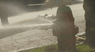 Fire Hydrant Being Closed Stock Footage