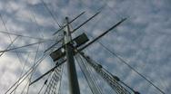 Schooner Mast. Stock Footage