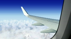 Airplane window seat Stock Footage