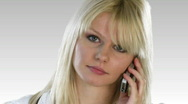 Stock Video Footage of Atractive Blonde Woman on the phone