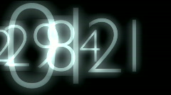 numbers animation HD - stock footage