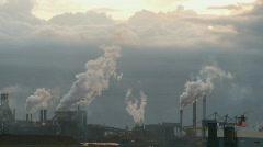 Factory smoke close-up Stock Footage
