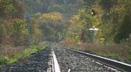 Hazy train tracks. Stock Footage