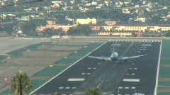 Commercial airplane takeoff Stock Footage