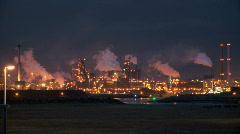 Factory night Stock Footage