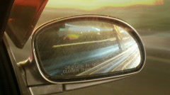 Car Side View Mirror Stock Footage