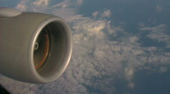 Stock Video Footage of Jet engine in sky