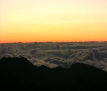 Haleakala Crater sunrise clouds time lapse - stock footage