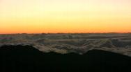 Haleakala Crater sunrise clouds time lapse Stock Footage