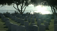 Stock Video Footage of cemetery with ocean background