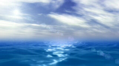 Ocean and sky animation Stock Footage