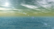 Stock Video Footage of Ocean and sky animation