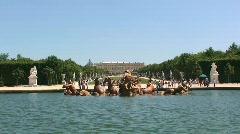 Water Fountain Statues at Versailles French Lake Stock Footage