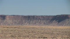 Pan of Distant Desert Buttes Stock Footage