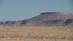 Pan of Distant Buttes Stock Footage