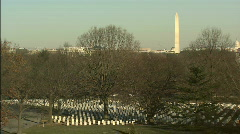Arlington with Wash Mon Stock Footage
