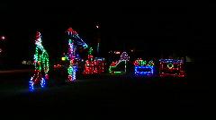 Christmas Lights Train Stock Footage