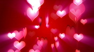 Stock Video Footage of Rotatnig Love Hearts - valentine's day background loopable
