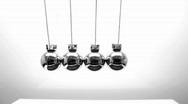 Newton's pendulum Loop Stock Footage