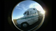 Fish-eye road timelapse Stock Footage