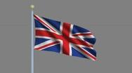 Flag of the United Kingdom Stock Footage