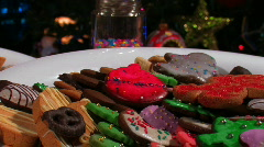 CHRISTMAS COOKIES AND TREE Stock Footage