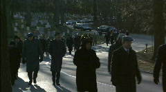 Funeral Procession Stock Footage