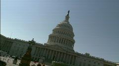 "Capitol Bulding DC ""dutch"" Stock Footage"