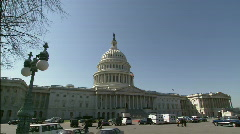 Capitol Bulding DC winter Stock Footage
