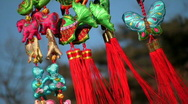 Chinese New Year decorations Stock Footage