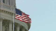 Stock Video Footage of CU Flag Capitol Dome DC