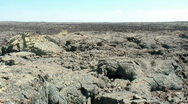 Desolate lava field Stock Footage