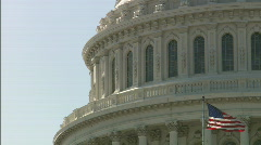 Dome Capitol Bulding DC MCU Stock Footage