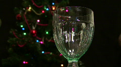 Glass Of Egg Nog Stock Footage