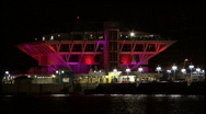 The St Pete Pier At Night 01 Stock Footage