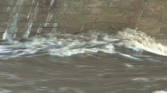 River Tees in flood at Piercebridge 6 Stock Footage