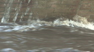 Stock Video Footage of River Tees in flood at Piercebridge 6